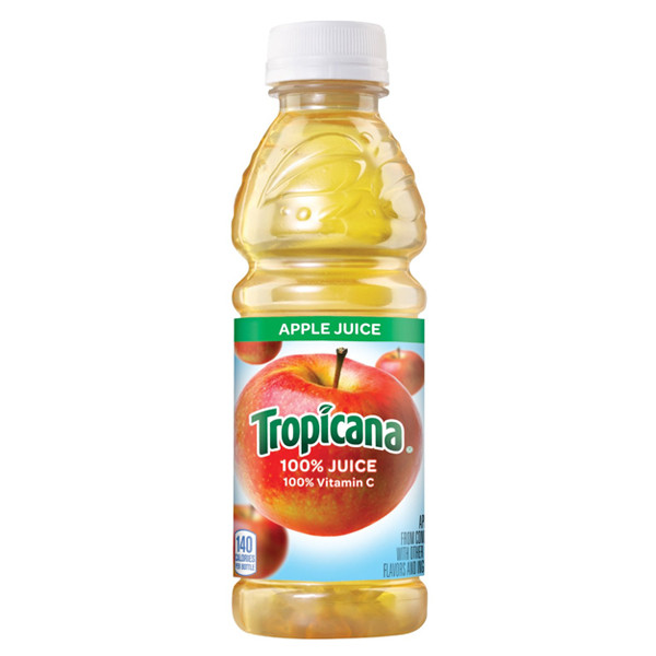 Tropicana - Apple Juice 10oz Plastic Bottle Case