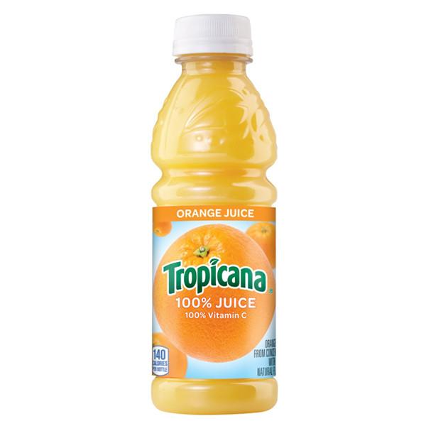 Tropicana - Orange Juice 10oz Plastic Bottle Case