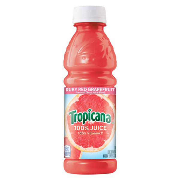 Tropicana - Ruby Red Grapefruit 10oz Plastic Bottle Case