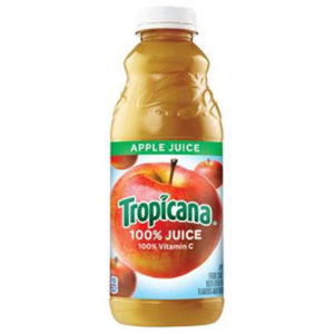 Tropicana - Apple Juice 32oz (Quart) Plastic Bottle Case