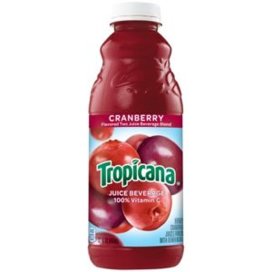 Tropicana - Cranberry Juice 32 oz (Quart) Plastic Bottle 12pk Case