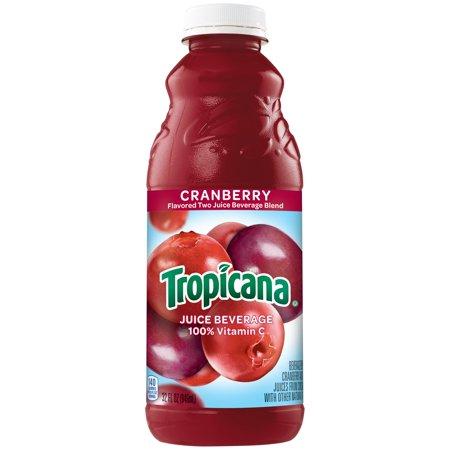 Tropicana - Cranberry Juice 32 oz (Quart) Plastic Bottle 12pk Case