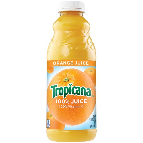 Tropicana - Orange Juice 32 oz (Quart) Plastic Bottle 12pk Case
