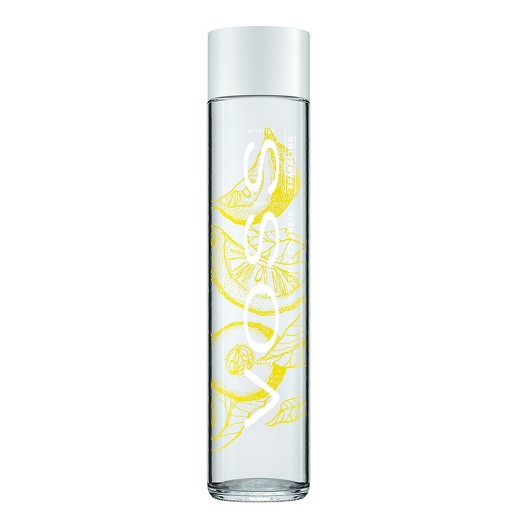 Voss - Sparkling Lemon Cucumber 375ml (12.6oz) Glass Bottle Case - 24 Pack
