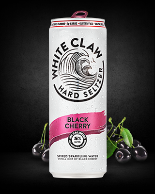White Claw - Hard Seltzer Black Cherry 12oz Can Case