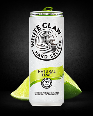 White Claw - Hard Seltzer Natural Lime 12oz Can Case