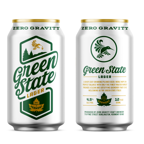 Zero Gravity - Green State Lager 12oz Can 24pk Case